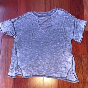 Free People Cut-Out T-Shirt